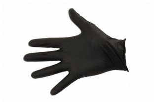 Connect 37305 Grippaz Medium Black Nitrile Gloves Box of 50